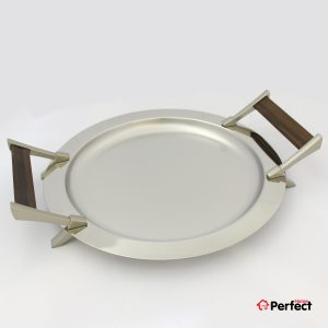سینی استیل دایره Perfect home مدل 1405
